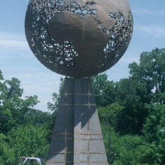 The World | bronze | granite base inlaid with bronze
