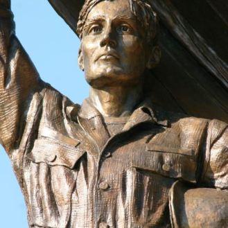 Citizen Soldier (detail) | Kane County Veterans Memorial | bronze