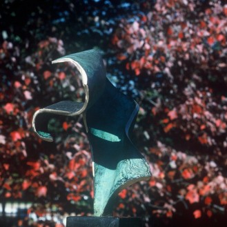 Pushing the Envelope | bronze | verdigris patina and polish